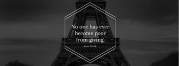 Citation about volunteer work with Eiffel Tower
