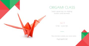 Origami class Offer with paper bird