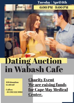 Smiling Couple at Dating Auction