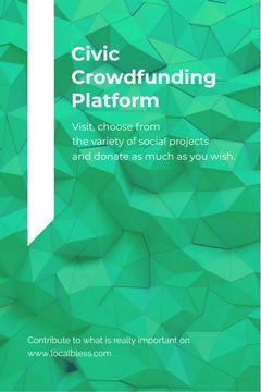 Crowdfunding Platform ad on Stone pattern
