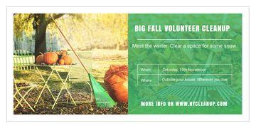 Big fall volunteer cleanup