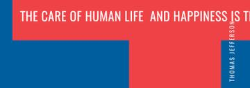 Government Quote on blue and red