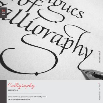 Calligraphy Workshop Announcement Decorative Letters