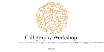 Calligraphy workshop poster