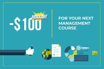 Discount coupon for next management course