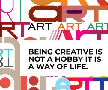 Creativity Quote on colorful Letters