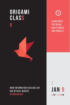 Origami class Announcement