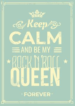 Rock'n'roll queen poster