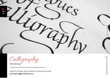 Calligraphy Workshop Announcement with Decorative Letters