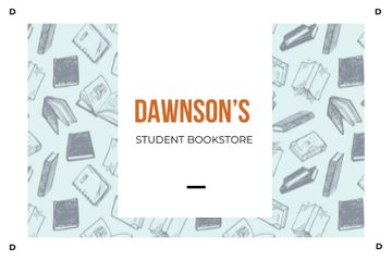 Dawnson's student bookstore illustration