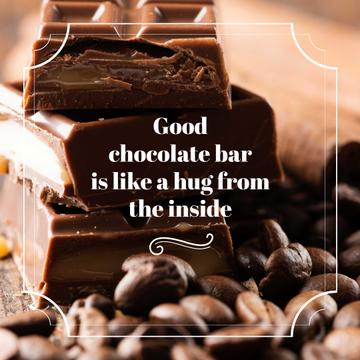 Chocolate pieces and cocoa beans