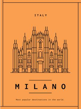 Milano cathedral graphic icon