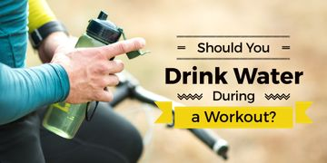 Should young drink water during a workout