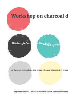 Charcoal Drawing Workshop colorful spots