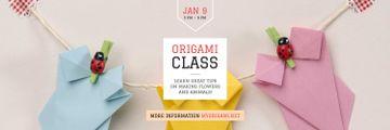 Origami Classes Invitation Paper Garland