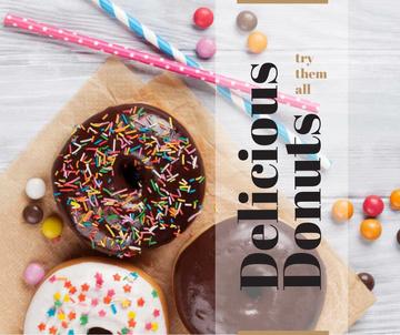 Sweet glazed Donuts with sprinkles