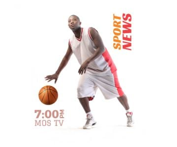 Sport News Announcement Basketball Player