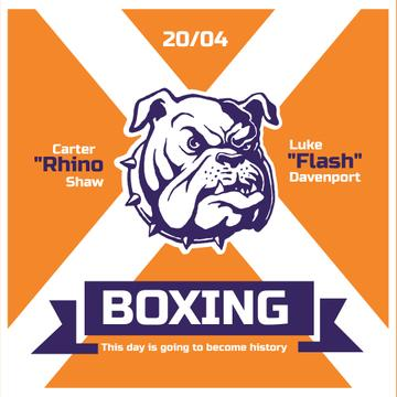 Boxing match Announcement with Angry Dog
