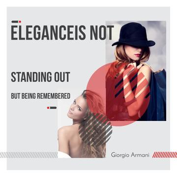 Citation about Elegance with Stylish Woman
