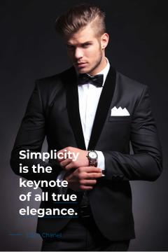 Elegance Quote with Businessman Wearing Suit