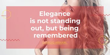 Citation about Elegance being remembered