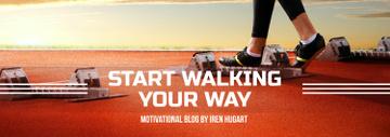 Sports Motivation Quote Runner at Stadium