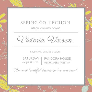 Spring Collection Introduction Announcement