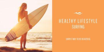 Surfing lifestyle banner