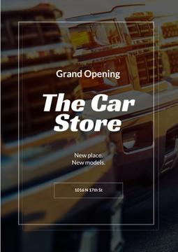 Car Store Grand Opening Announcement