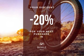 Discount voucher for bicycle store