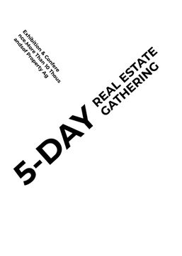 Real Estate Conference announcement Glass Skyscrapers