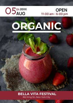 Blueberries for Organic food festival