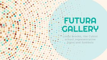 Art Gallery Ad Colorful Dots in Circles