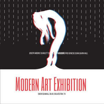 Modern Art Exhibition announcement Female Silhouette
