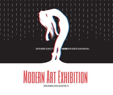 Modern Art Exhibition announcement Female Silhouette