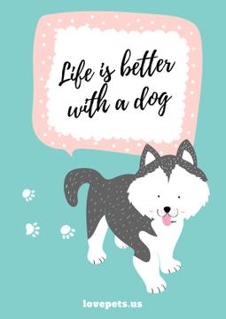 Dog adoption card