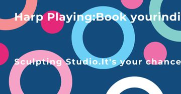 Sculpting Studio Offer on colorful pattern