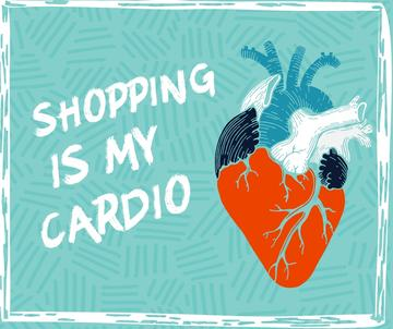 Shopping cardio quote on Heart drawing