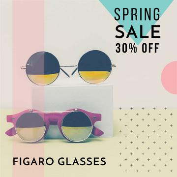 Sunglasses Sale ad Stylish Round Glasses