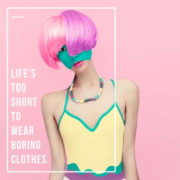 Fashion inspiration Girl with Pink Hair