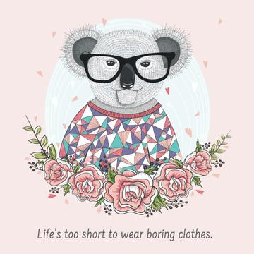 Fashion quote with Cute Koala