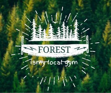 Forest Quote Scenic Green Nature View