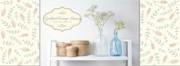 Home Decor Advertisement with Vases and Baskets