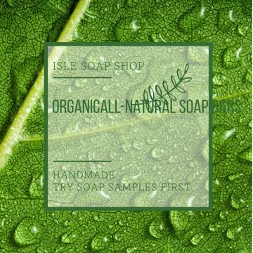 Organic Soap Bars Advertisement