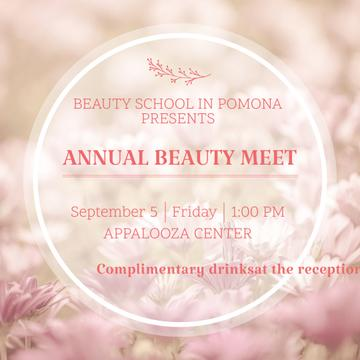 Annual Beauty Meet Announcement