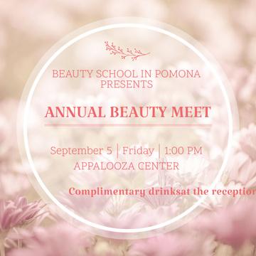 Annual beauty meet announcement