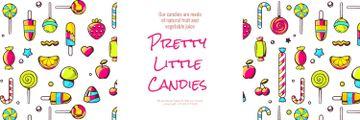 Pretty little candies banner