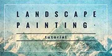 landscape painting tutorial banner
