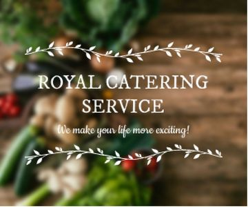Catering Service Ad Vegetables on Table