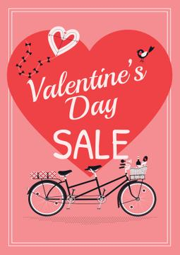 Valentine's day sale with Romantic bike